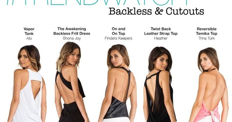 Bringing Sexy Back - How To Wear a Backless Top - Lue
