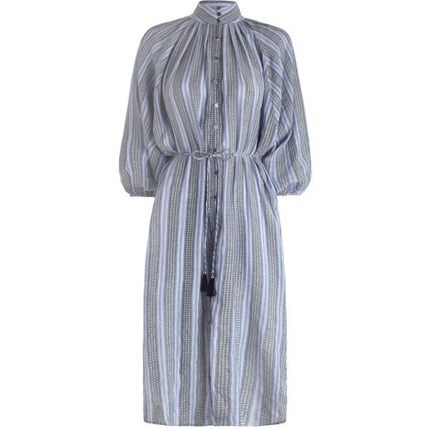 ZIMMERMANN Zephyr Batwing Shirt Dress ($450) ❤ liked on Polyvore .
