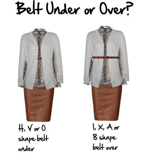 Should I Belt Under Or Over My Cardigan With A Short Wais