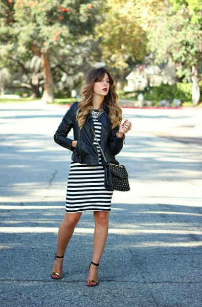 How to Wear Black and White Striped Dress: 13 Best Tips - FMag.c