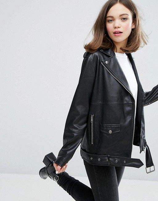 Discover Fashion Online in 2020 | Faux leather jacket outfit .