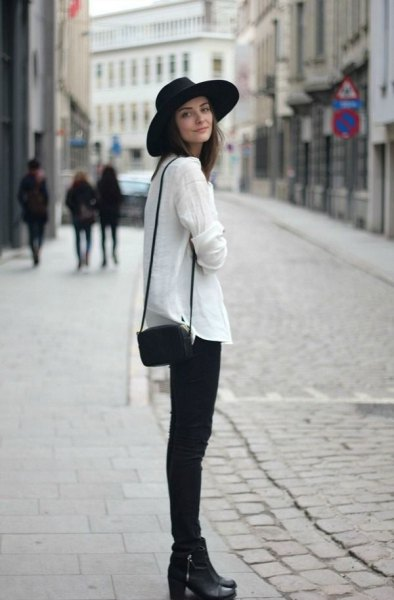 How to Wear Black Felt Hat for Women: Outfit Ideas - FMag.c