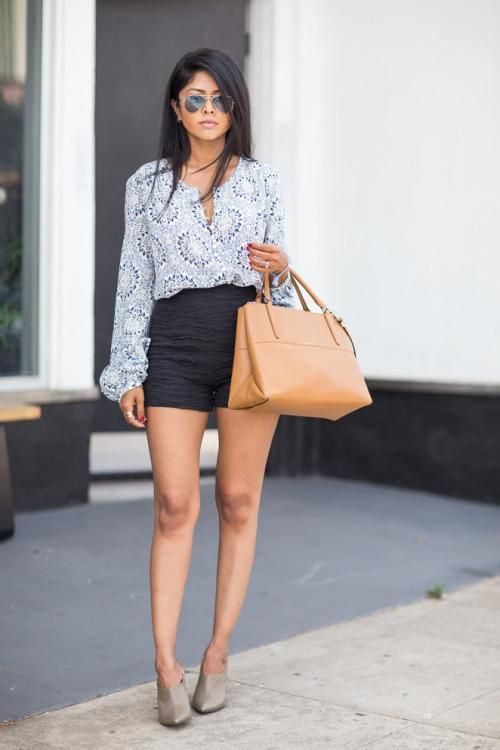 25 Ways to Wear High-Waisted Shorts This Spring | High waisted .