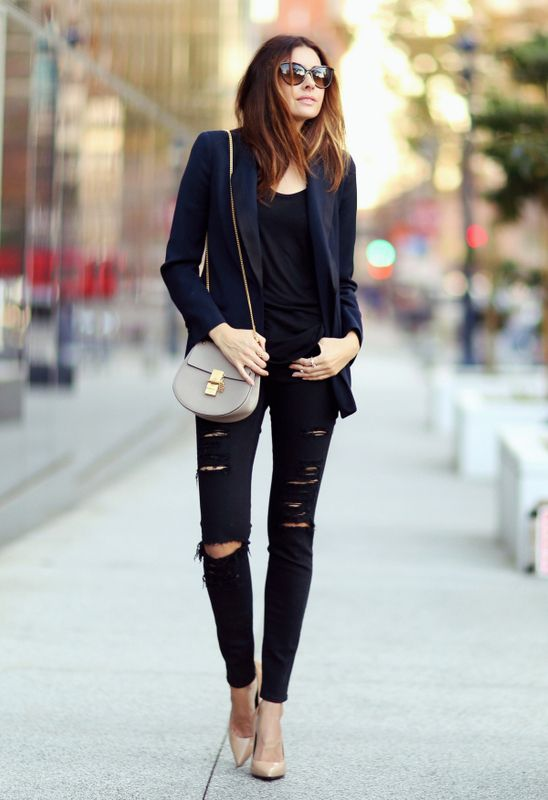 It Is A Must-Have: Black Ripped Knee Skinny Jeans | Fashion .