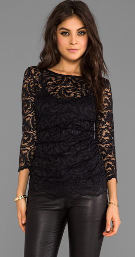 Gorgeous lace. | Lace top outfits, Stretch lace top, Black lace to
