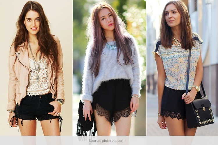 7 Ways To Dress Up With Black Lace Shor