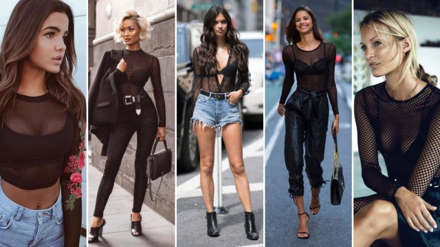 50+ How to Wear Black Mesh Tops in Style Ideas | Style Fema