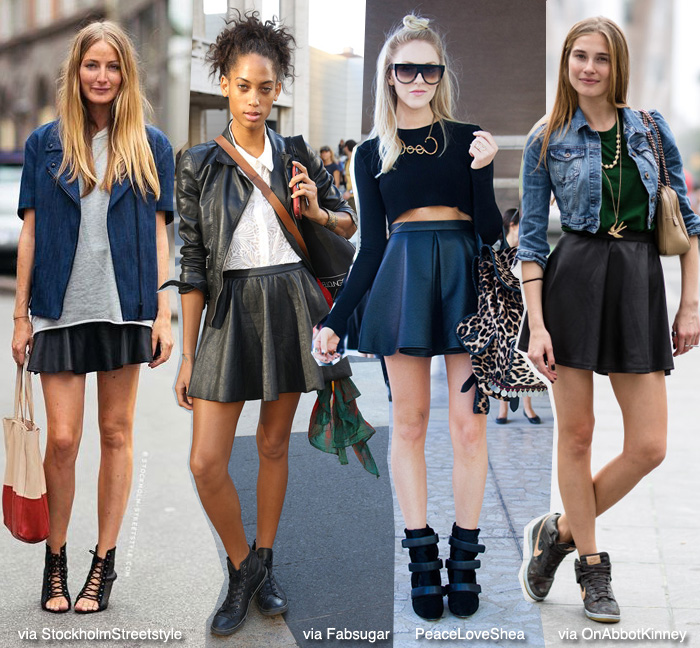 How to Wear: Black Skater Skirt | Blue is in Fashion this Year .