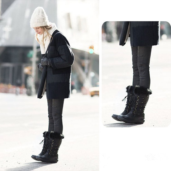 How to Wear Snow Boots to Look Slim and Chic - Chic Front丨Supreme .