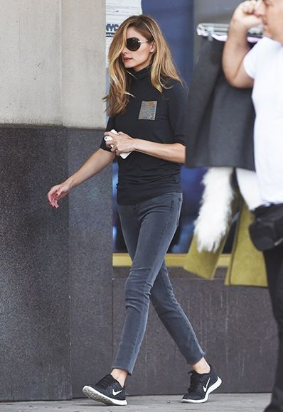 Black trainers: definitely a thing   Sneakers fashion outfits .