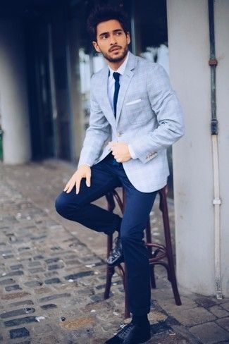 Light Blue Blazer with White Dress Shirt Outfits For Men (91 ideas .