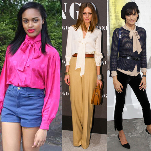 3 ways to wear Pussy Bow Blouses
