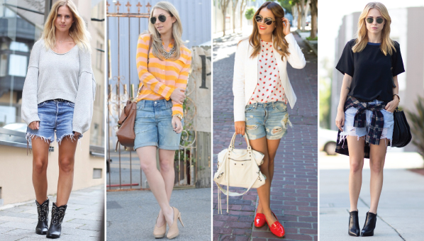How To Wear Boyfriend Shorts | Boyfriend Shorts | Denim Shorts .
