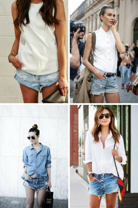 What To Wear With Denim Boyfriend Cut-off Shorts 2020 .