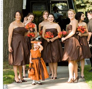 August 2009 | Brown bridesmaid dresses, Brown wedding dress .