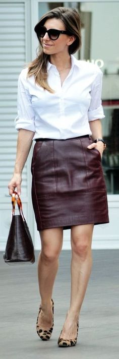 40+ Best brown leather skirt images in 2020 | brown leather skirt .