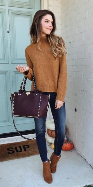 How to Wear Brown Sweater: 13 Natural Outfit Ideas for Ladies .