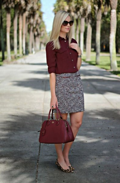 How to Wear Burgundy Shirt: Top 13 Outfit Ideas for Women - FMag.c