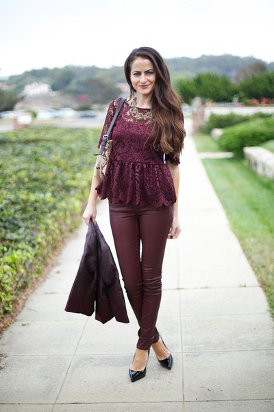 Zara Burgundy Shirt - How to Wear and Where to Buy | Chictop