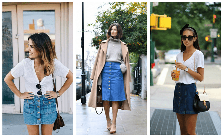 6 Ways To Wear A Button Front Skirt Like A Fashionista - Career .