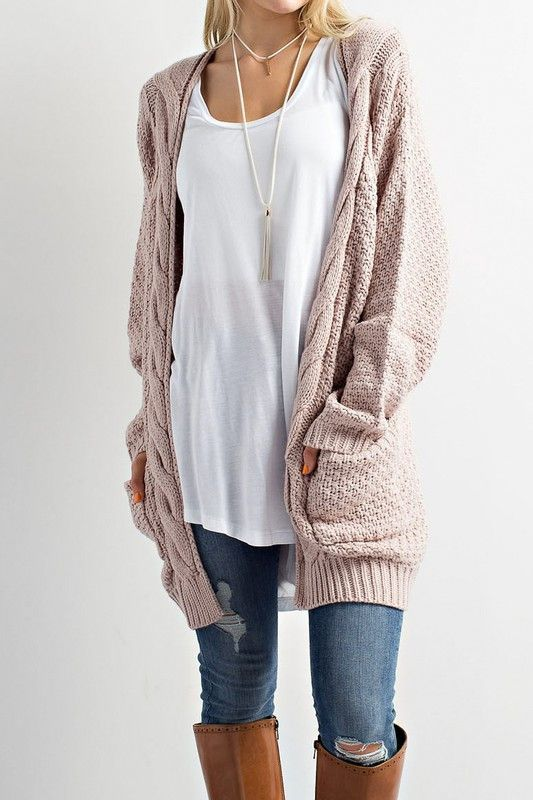 Cozy Cable Knit Cardigan Sweater | Cable knit sweater cardigan .