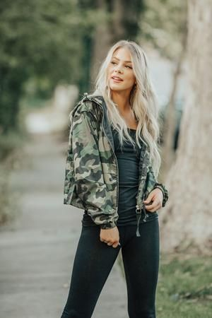 Don't Look Camo Windbreaker | Outerwear sweater, Clothes for women .