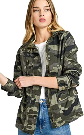 Amazon.com: Women's Lightweight Long Sleeve Army Camouflage Jacket .
