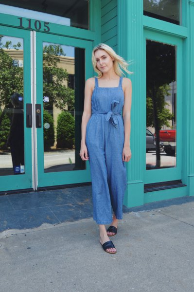 15 Beautiful Ways on How to Wear Chambray Jumpsuit - FMag.c