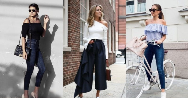 A Guide On How To Wear Asymmetric Cold Shoulder Tops | Fashi