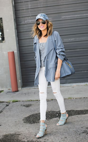 How to Wear Denim Hat: 15 Stylish Outfit Ideas for Ladies - FMag.c