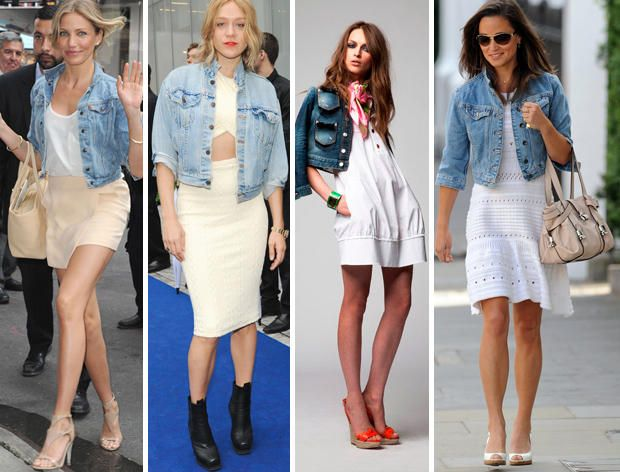 What to Wear Your Cropped Denim Jacket With | How to wear white .