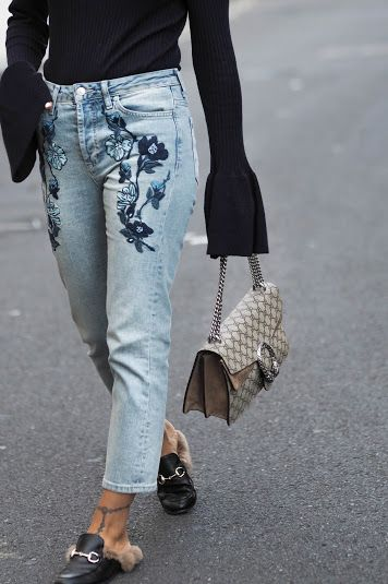 TWO WAYS TO WEAR EMBROIDERED JEANS - A FASHION FIX // UK FASHION .