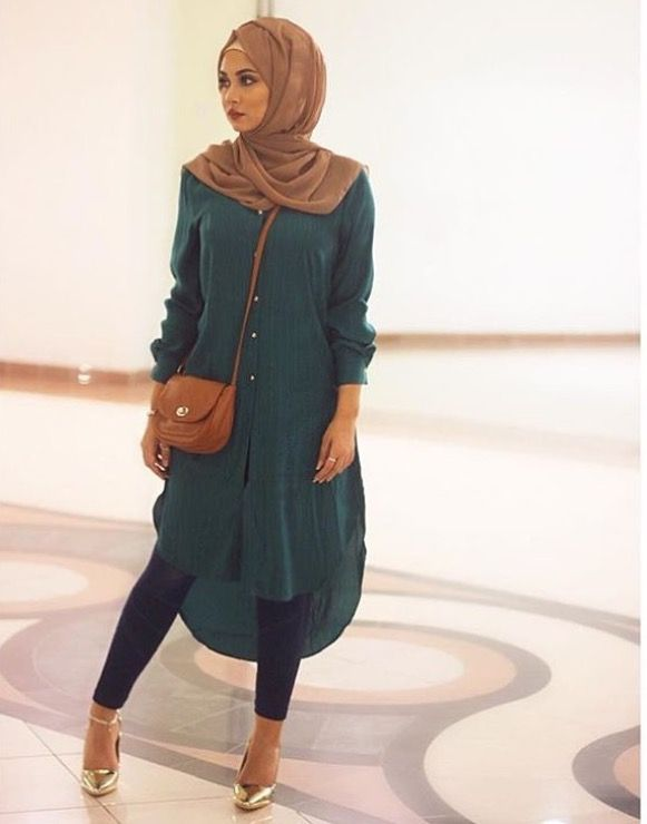 leggings #chiffon #styles #hijab #tunic #dress #shoes #with #long .
