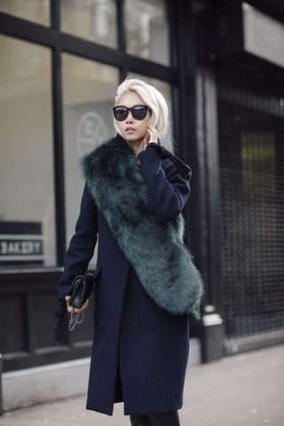 15 Photos to Show You How to Wear Faux Fur Stol