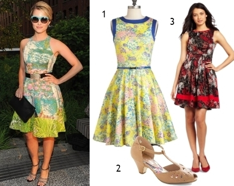 Get the Look: Celebs Wearing Fit and Flare Dresses | Creative Fashi