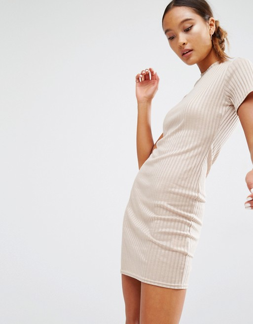 Daisy Street Fitted T-Shirt Dress In Rib | AS