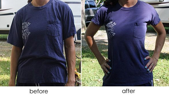 Finally I can fix all my over-sized t-shirts...Amy Huber, will you .