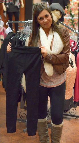 FLEECE LINED LEGGINGS - 10 COLORS, $8.00 black grey perfect to .