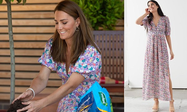 Kate Middleton's sell-out floral dress looks just like this .