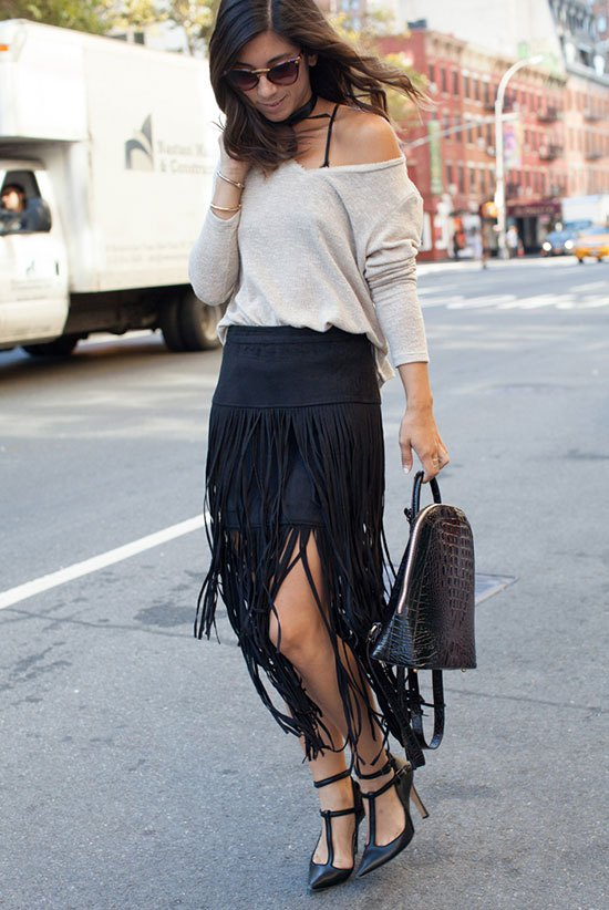 How to Wear Fringe Skirt: 15 Super Chic Outfit Ideas for Women .