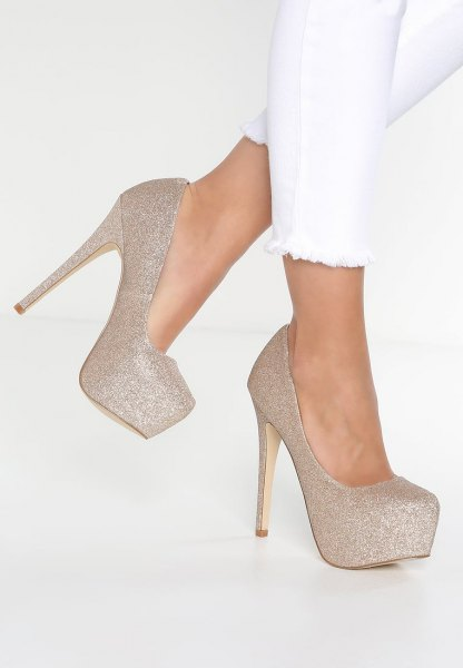 How to Wear Gold Platform Heels: Style Guide - FMag.c