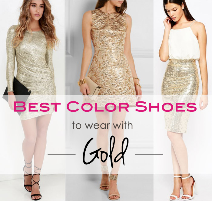Get Golden! What Color Shoes to Wear with a Gold Dress or Ski