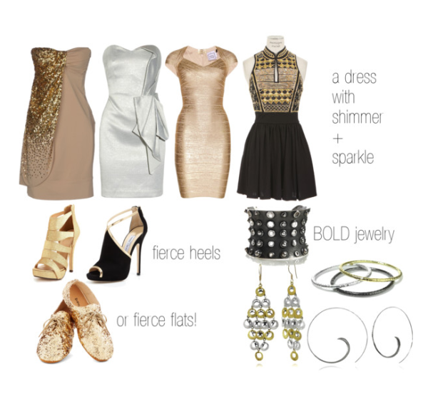 How to accessorize a sparkly dress | Sparkly dress, How to wear .