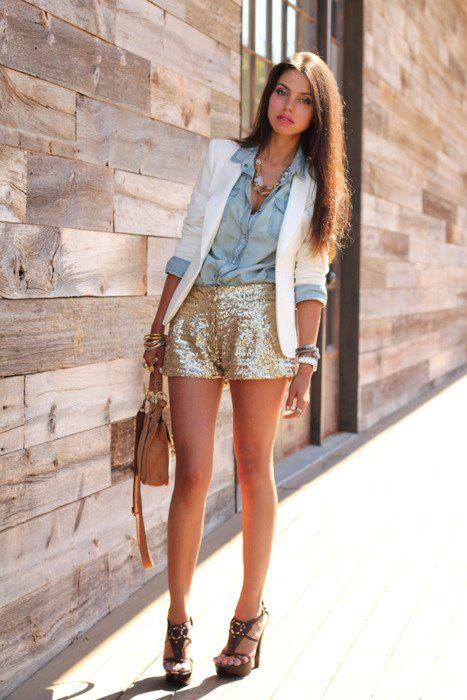 high school senior what to wear- sequin or lace short dressy .
