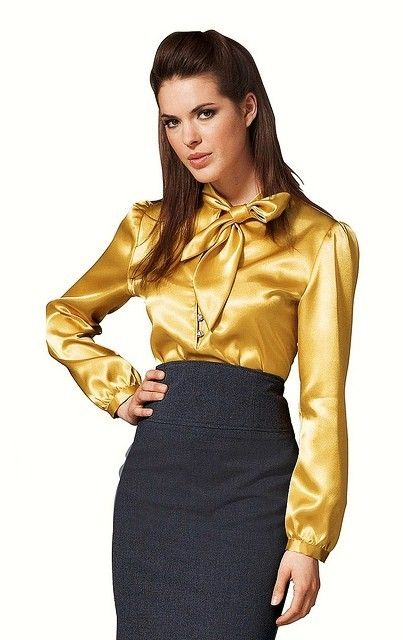 Gold Satin Blouse | ... Blouses For Sale , Fashion , Satin Dress .