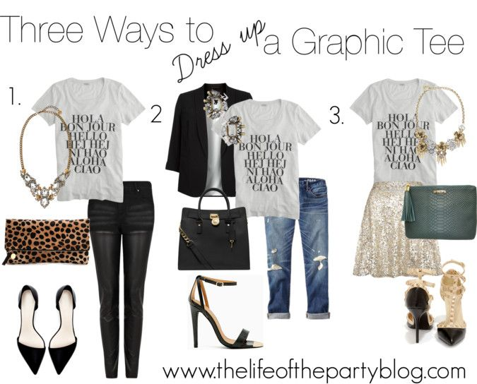 Follow The Life of the Party | Fashion, Tshirt outfits, Graphic .