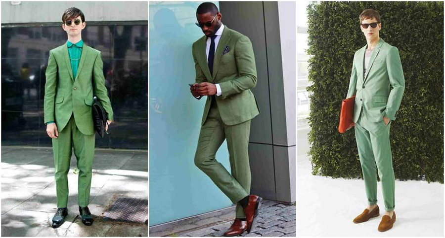How To Wear, Match & Pair GREEN in Menswear part 1 - Mens Suit Bl