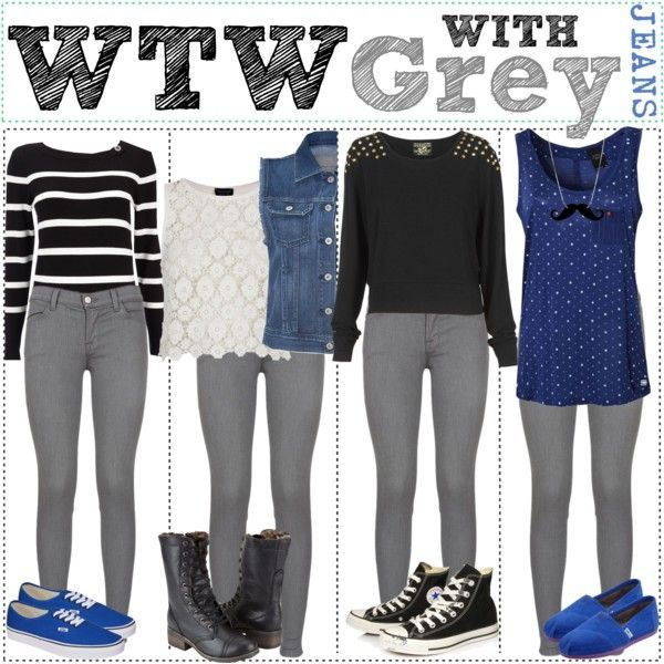 What To Wear With Grey Jeans   Grey Jeans, What To Wear and Grey .