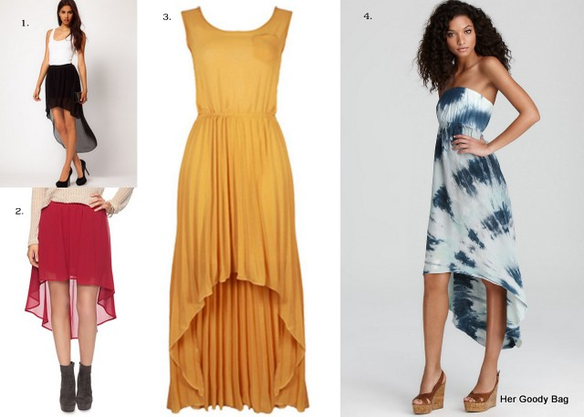 What To Wear: High-Low Hem Skirts and Dress