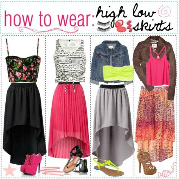 How to wear the high low skirts | | Just Trendy Gir
